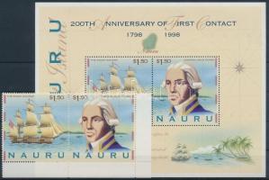 1998 Nauru felfedezésének 200. évfordulója ívsarki pár Mi 472-473 + blokk 22