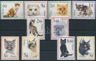 1964 Macskák sor Mi 1475-1484