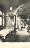 Freiburg im Breisgau, Alte Burse, Altdeutsche Weinstube-Erkertisch / wine hall, interior