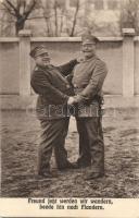 Freund jetzt werden wir wandern, beede hin nach Flandern / WWI German soldiers, I. világháború, Flandriába készülő német katonák
