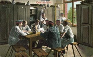 Kasernenleben / Barrack life, WWI German military, soldiers, Élet a laktanyában, I. világháborús német katonák