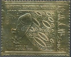 1969 Űrkutatás aranyfóliás bélyeg Mi 375