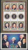 Presidents of The United States mini sheet + block, Az Egyesült Államok elnökei kisív + blokk