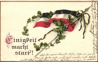 Einigkeit macht start! / German flag, M.S.i.B. 242. litho, Német zászló, M.S.i.B. 242. litho