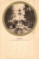 Torino, Turin; Corso e Monumento Vittorio Emanuele / promenade, monument, tram