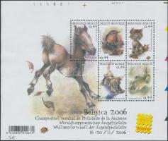Stamp Exhibition; Animal block, Bélyegkiállítás; Állat blokk