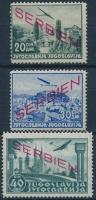 Szerbia 1941 Mi 22-24