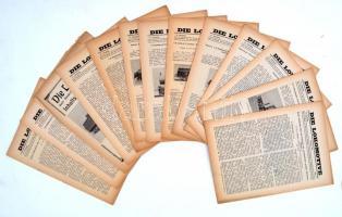 1924 Die Lokomotive, Illustrierte Monatsfachzeitschrift für Eisenbahntechniker 12 száma+ éves összesítő nyomtatvány, cca 20oldal/szám, jó állapotban, 28x21cm
