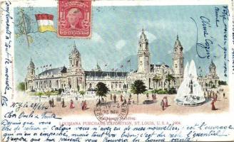 1904 St. Louis, Louisiana Purchase Expositian, Machinery Building (cut)