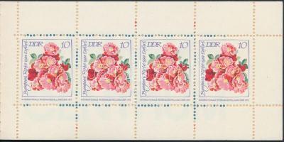 1972 Rózsák bélyegfüzet MH 6 (Mi 1764, 1767-1768)