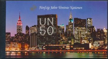 50th anniversary of UNO stamp-booklet, 50 éves az ENSZ bélyegfüzet
