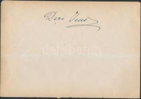 1917 Vegyes opera-énekes aláírások,egy lapon 2db:Déri Jenő (1869-1942) tenor, Deső Imre (?-?)