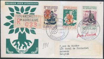 1962 Menekültügyi év sor 26 leveles fa Mi III-V I FDC