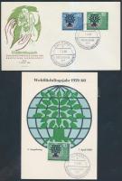 1960 Menekültügyi év sor Mi 326-327 FDC + 326 CM