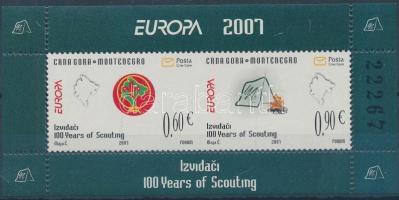 2007 Europa CEPT, Cserkész bélyegfüzetlap Mi 139-140