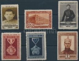 1946 Forradalom évfordulója sor 6 értéke Mi 68-74 (Mi 69 hiányzik)