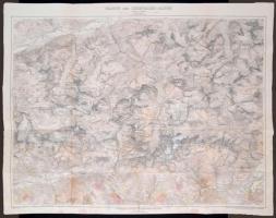 1911 A Lechtaler Alpok térképe / 1911 Large map of the Lechtaler Alps 90x70 cm