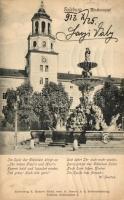 Salzburg, Glockenspiel, fountain, Salzburg, harangjáték, szökőkút