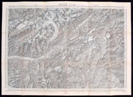 1913 A Brenni felföld térképe / Large map of the Brenn Oberland in Tirol Austria 50x70 cm
