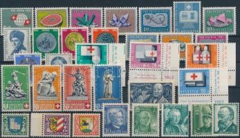 Svájc 1940-1963 53 db bélyeg, közte teljes sorok, 2 stecklapon, Switzerland 1940-1963 53 stamps