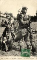 WWI French military, infantryman, I. világháború, francia gyalogos katona