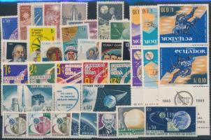 1962-1965 Space Travel 12 issues, 1962-1965 Űrrepülés motívum 12 db klf kiadás, közte teljes sorok és összefüggések