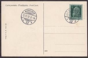 1912.12.12 12 óra címezetlen képeslap érdekes dátumbélyegzéssel 1912.12.12 12 hour unused postcard with interesting cancellation