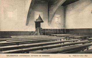 Salamanca, Universidad, Catedra de Cisneros / university, interior, Department of Cisneros
