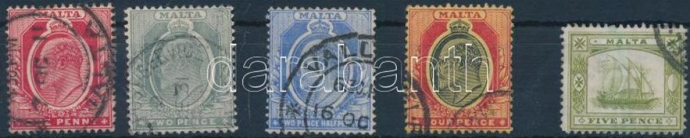 1907 Forgalmi sor 5 értéke