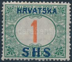 SHS 1918 Pirosszámú Portó 1f (10.000) / Mi P27 Signed: Bodor