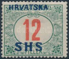 SHS 1918 Pirosszámú Portó 12f (30.000) / Mi P30 Signed: Bodor