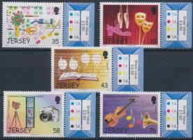 2008 Fesztiválok Jersey (III): 100 év Eisteddfod Művészeti Fesztivál ívszéli sor Mi 1337-1341