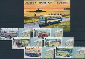 2008 Közlekedés, omnibusz ívszéli sor Mi 1342-1347 + blokk 66