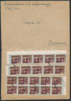 1946 (10. díjszabás) Távolsági levél 20x Betűs II. Tl.2/10f bérmentesítéssel (boríték szétnyitva)