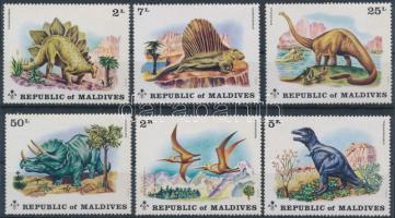 1972 Dinoszaurusz sor Mi 401-406 A