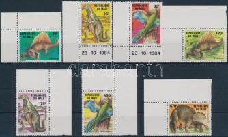 1984 Dinoszaurusz ívsarki sor Mi 1025-1031