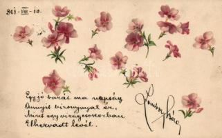 Flowers litho, Virágok, litho