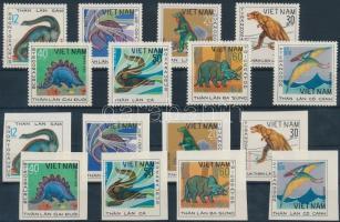 1979 Dinoszaurusz fogazott és vágott sor Mi 1007-1014 + 1007 U-1014 U