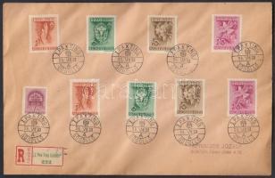 1939 2 Pax Ting sor ajánlott levélen I PAX TING GÖDÖLLŐ A alkalmi bélyegzéssel