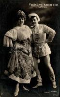 Fedák Sári, Hungarian actress; Rasskó Géza, Hungarian actor, Fedák Sári, Rasskó Géza; 'Leányka'