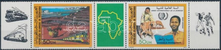 1985 Bélyegkiállítás ívszéli hármascsík Mi 864-865