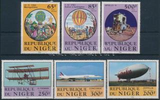 1983 Repülés történet sor Mi 825-830