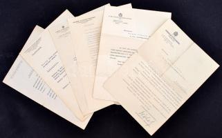 cca 1940 6 db postai témájú okmány, kinevezés