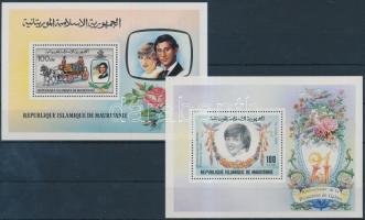 1981-1982 Charles herceg és Diana hercegnő blokk Mi 32, 35