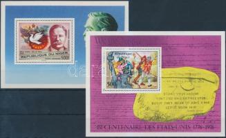1976-1977 Amerikai Egyesült Államok függetlensége, Nobel díjasok blokk Mi 13,17