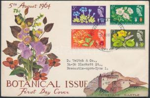 1960 10. Nemzetközi Botanikus Találkozó, Edinburgh sor Mi 378-381 x FDC-n