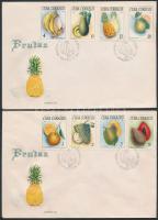 Tropical Fruits set FDC, Trópusi gyümölcsök sor FDC-n