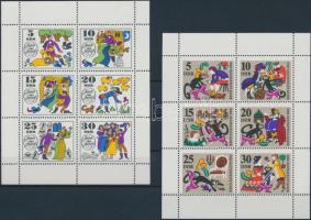 1968-1969 Mesék 2 klf kisív Mi 1426-1431, 1450-1455