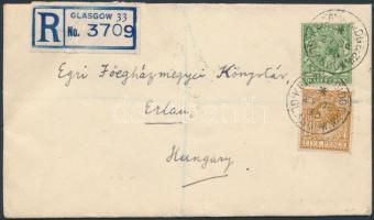 1933 Ajánlott levél Egerbe