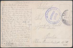 1915 Tábori képeslap FLIEGER-ERSATZ-ABTEILUNG NR 1